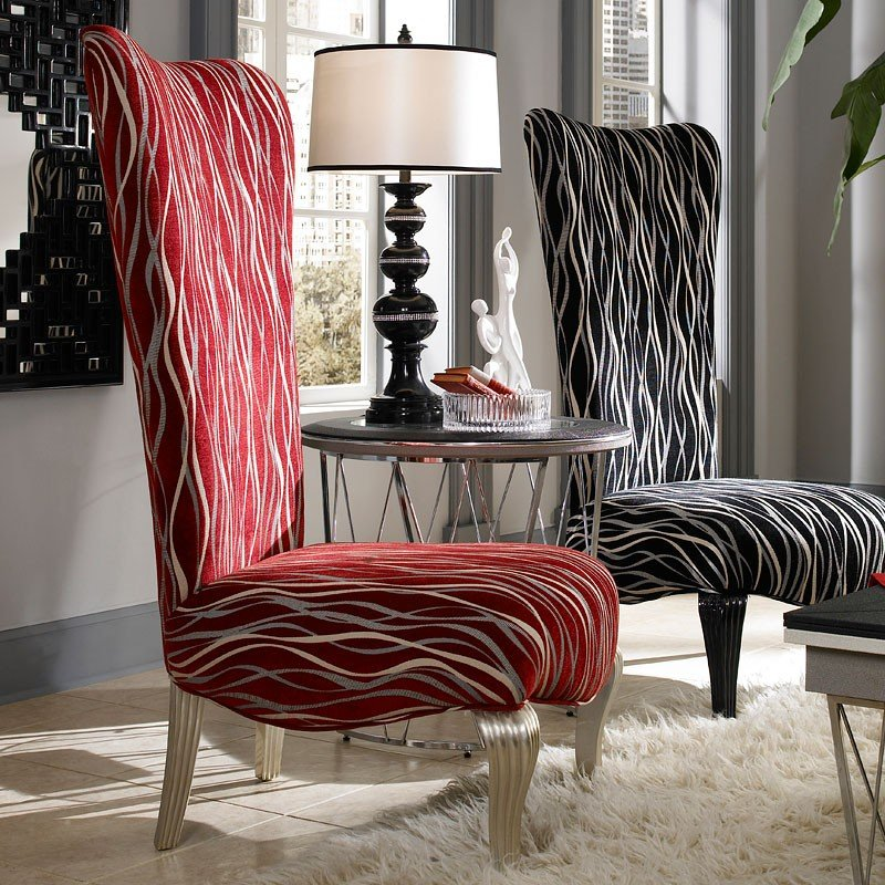 Beverly Blvd Armless Chair (Red)