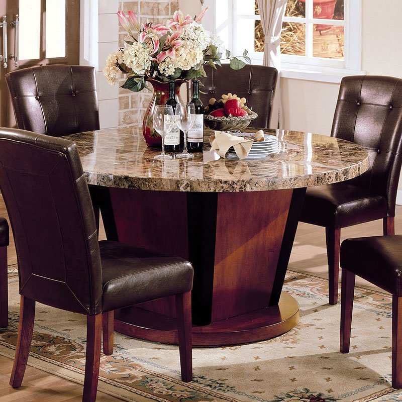 Bologna Inch Round Dining Table Acme Furniture Furniture Cart - 60 inch round dining room table sets
