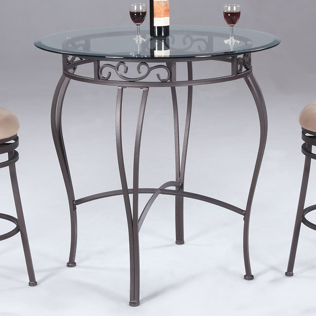 Wrought Iron Kitchen Chairs: Wrought Iron Round Counter Height Table Chintaly Imports