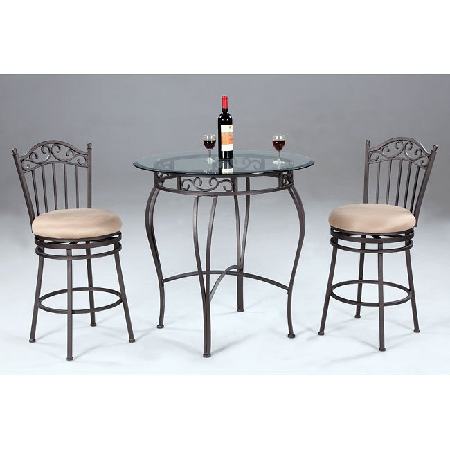 Wrought Iron Counter Height Dining Room Set Chintaly