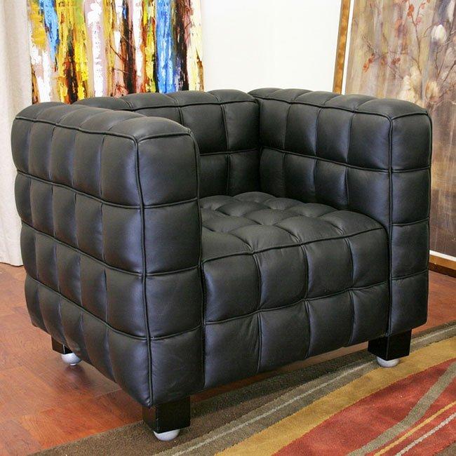 Arriga Black Leather Modern Chair