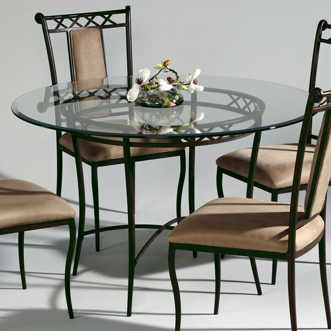 Wrought Iron Round Dining Table Chintaly Imports ...