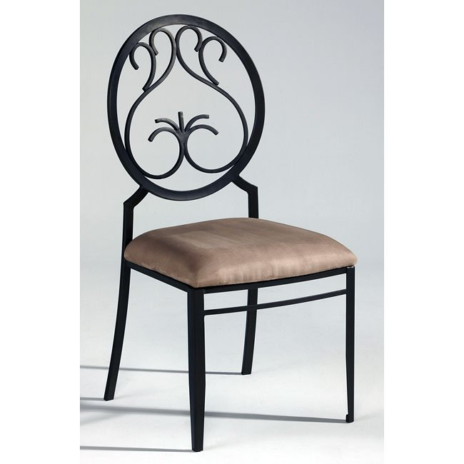 Wrought Iron Kitchen Chairs: Wrought Iron Dinette W/ Round Back Chairs Chintaly Imports