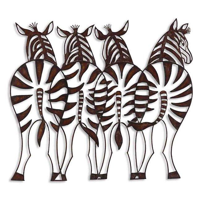 Zebras Metal Wall Art