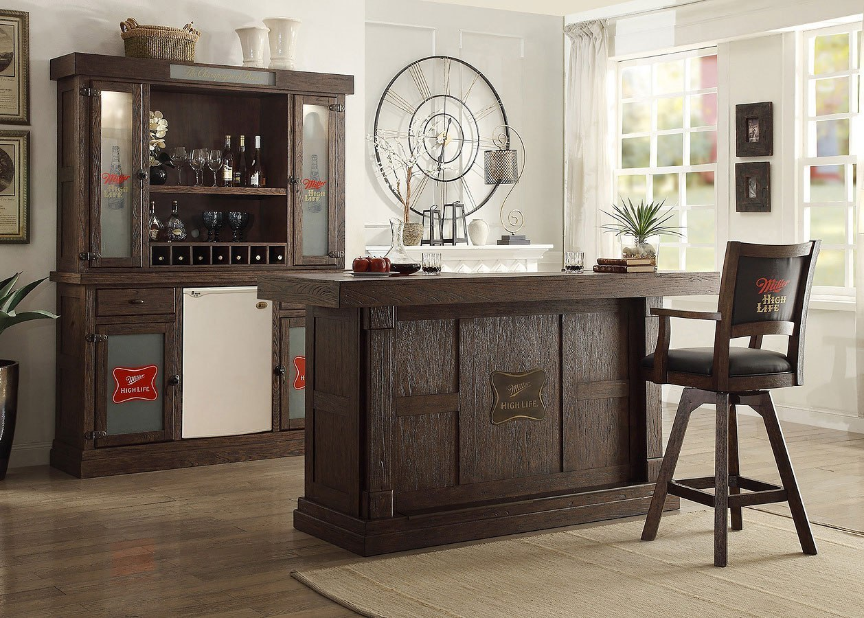 Miller High Life 82 Inch Home Bar Set Eci Furniture