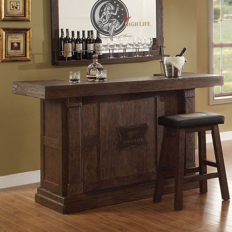Home Bar Furniture: Miller High Life 65 Inch Home Bar Set ECI Furniture