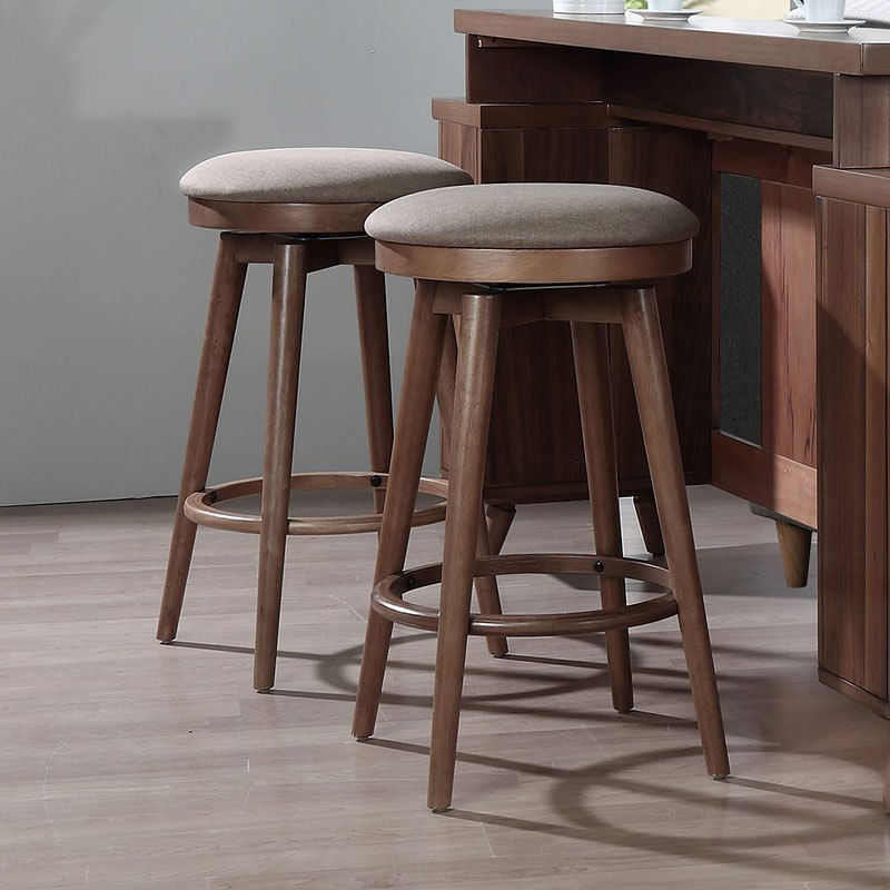 Mid Modern Backless Counter Stool Set Of 2 Eci Furniture