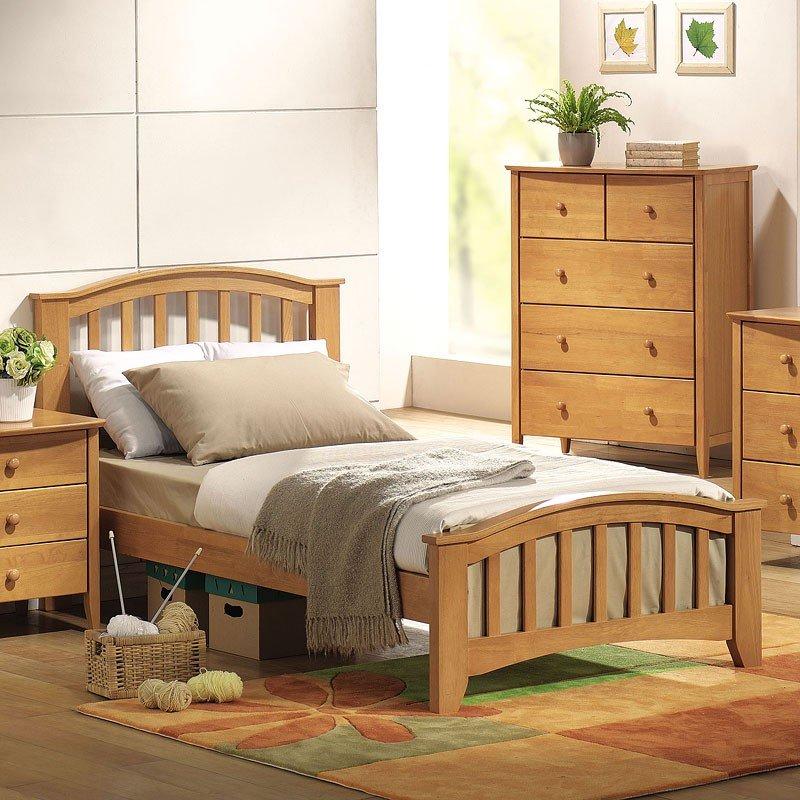 San Marino Slat Panel Bedroom Set Maple Acme Furniture