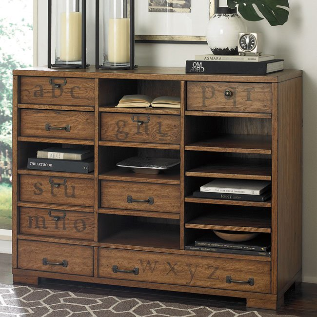 Hidden Treasures Printers Cabinet W Interchangeable Drawers