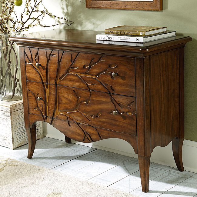 Hidden Treasures Bachelors Chest w/ Carved Front