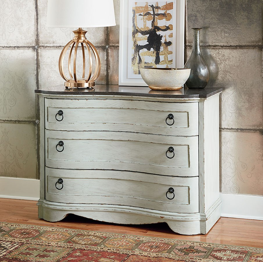 Hidden Treasures Curved Accent Cabinet