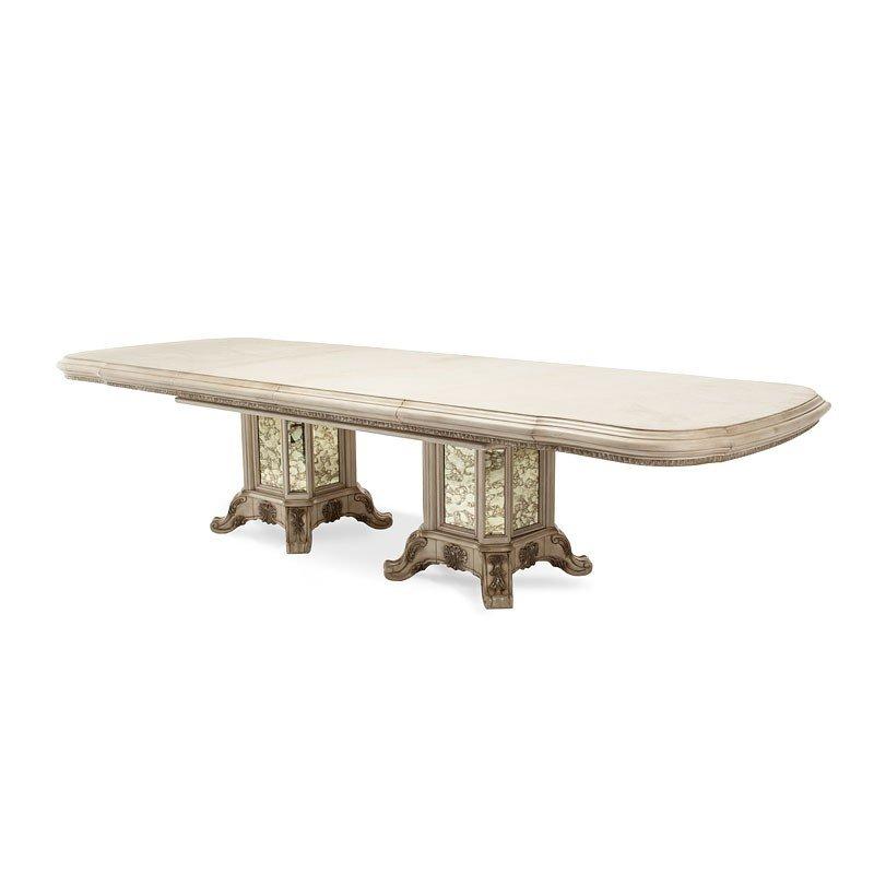Champagne Dining Room Furniture: Platine De Royale Rectangular Dining Room Set (Champagne