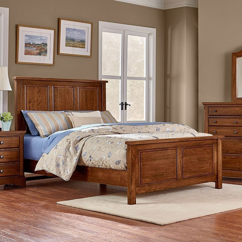 Top Bedroom Chairs Choices: Artisan Choices Panel Bed (Amish Cherry) Vaughan Bassett