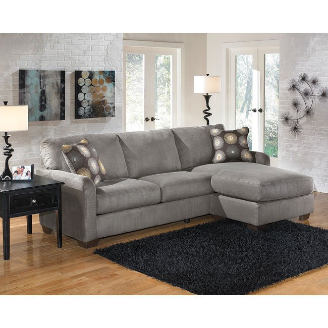 Pipkia Charcoal Sofa Chaise