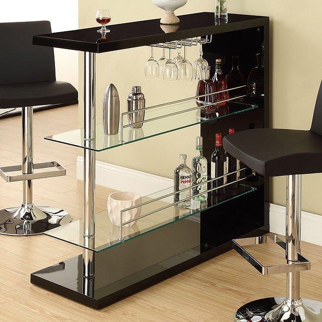 Sleek Contemporary Bar (Black)