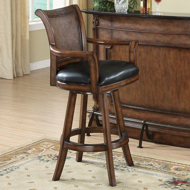 Clarendon Barstool with Leather Seat