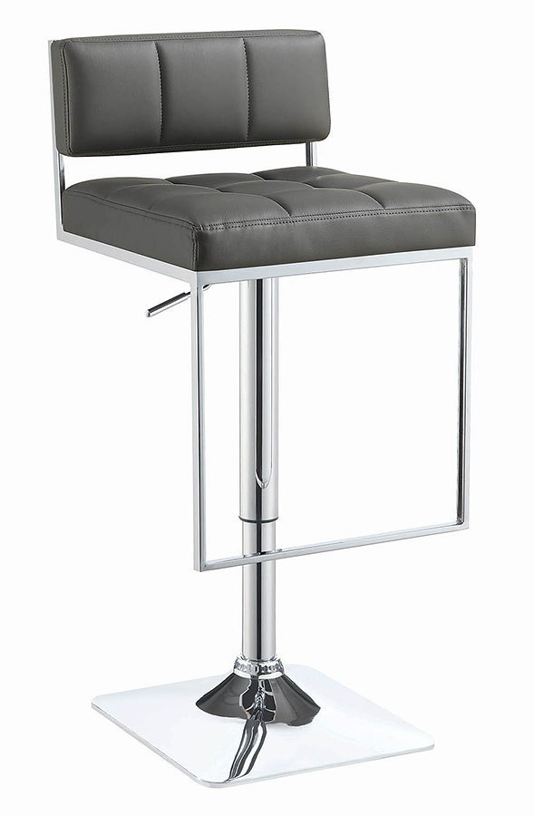 Grey Low Back Adjustable Bar Stool Coaster Furniture Furniture Cart