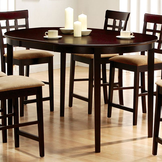 Mix Match Kitchen Chairs: Mix And Match Oval Counter Height Table (Cappuccino
