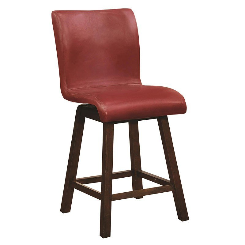 24 Inch Barstool Red Set Of 2