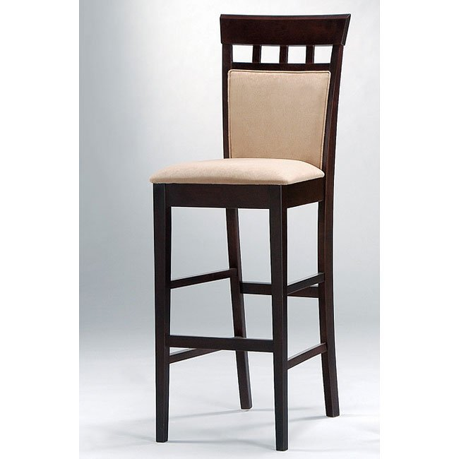 Mix and Match Upholstered Back 29 inch Barstool (Cappuccino) (Set of 2)