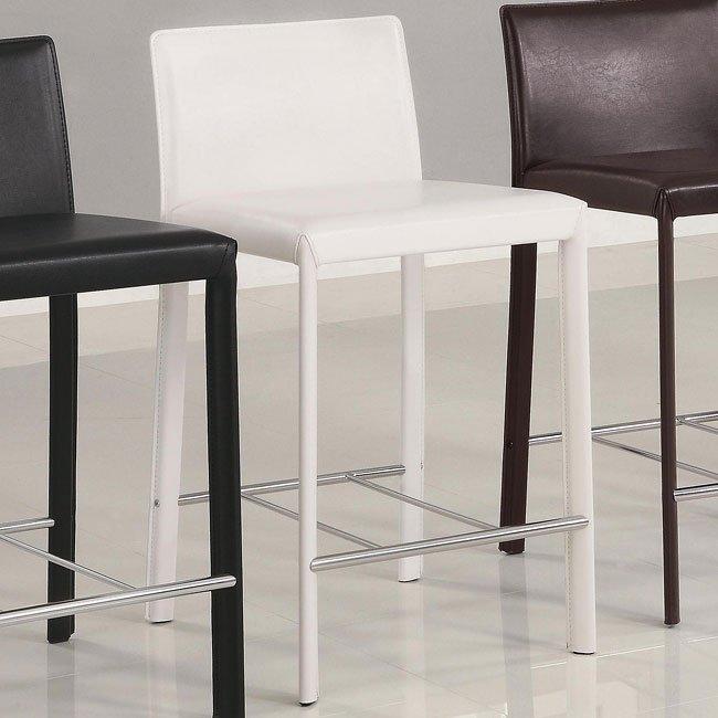 Modern Upholstered 24 Inch Barstool Set Of 2 White Coaster Furniture Cart