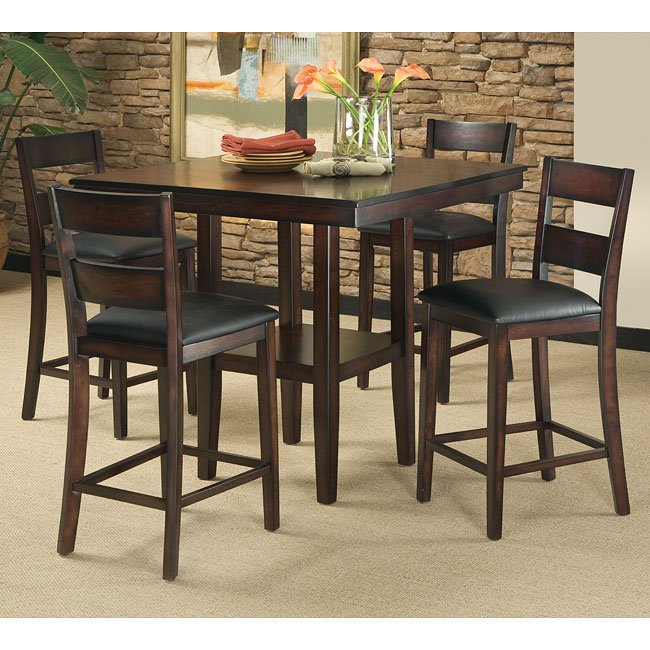 Pendwood 5-Piece Counter Height Dining Room Set