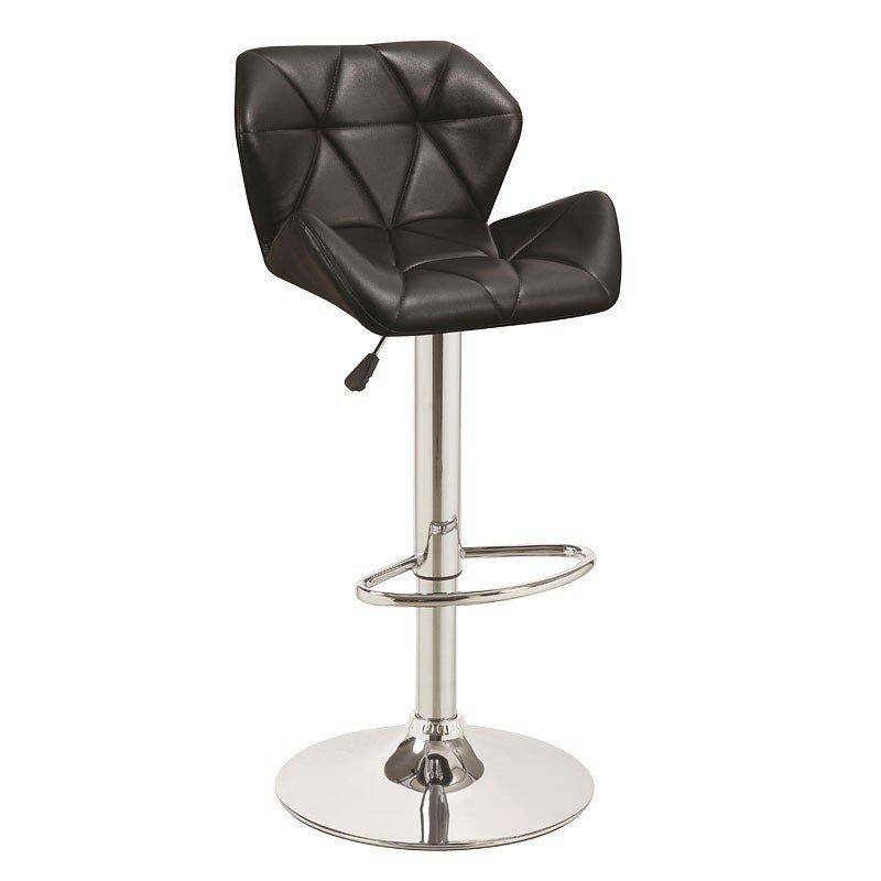 Adjustable Barstool Black Set Of 2 Coaster Furniture