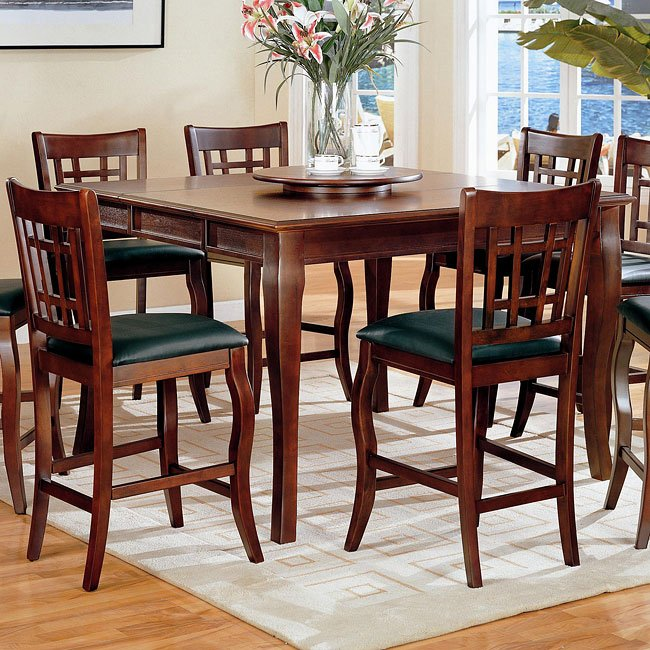 Newhouse Counter Height Table with Lazy Susan
