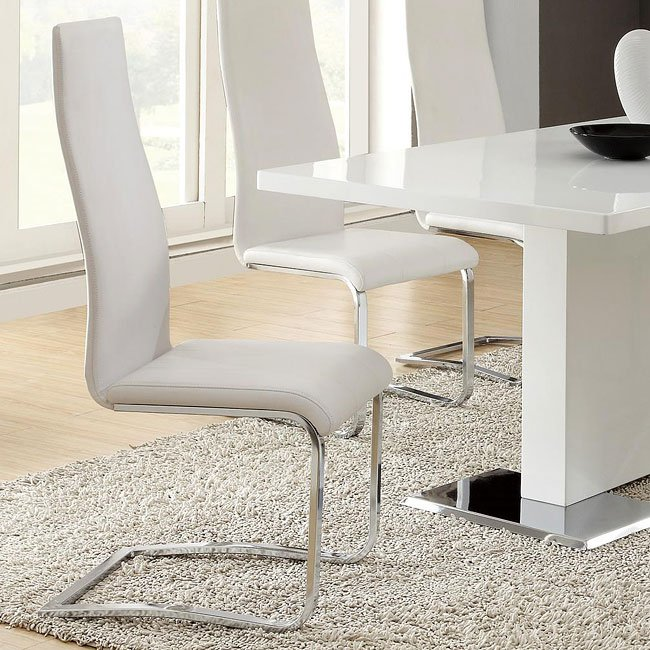 Modern Dining Chair (White) (Set Of 4) Coaster Furniture