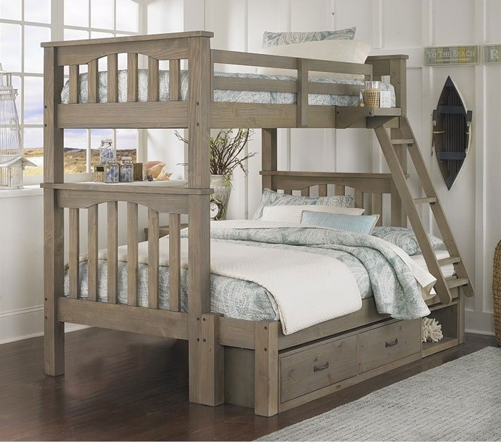 Highlands Harper Twin Over Full Bunk Bed W Storage