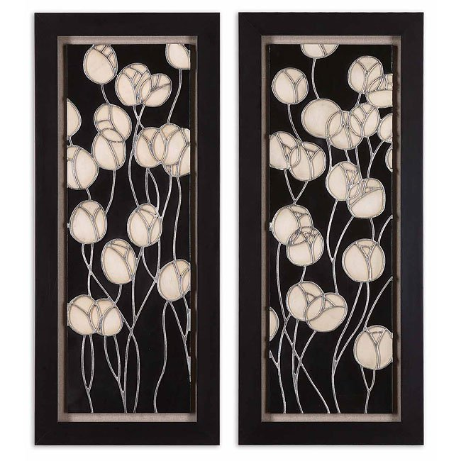Abstract Blossum Metal Wall Art (Set of 2)
