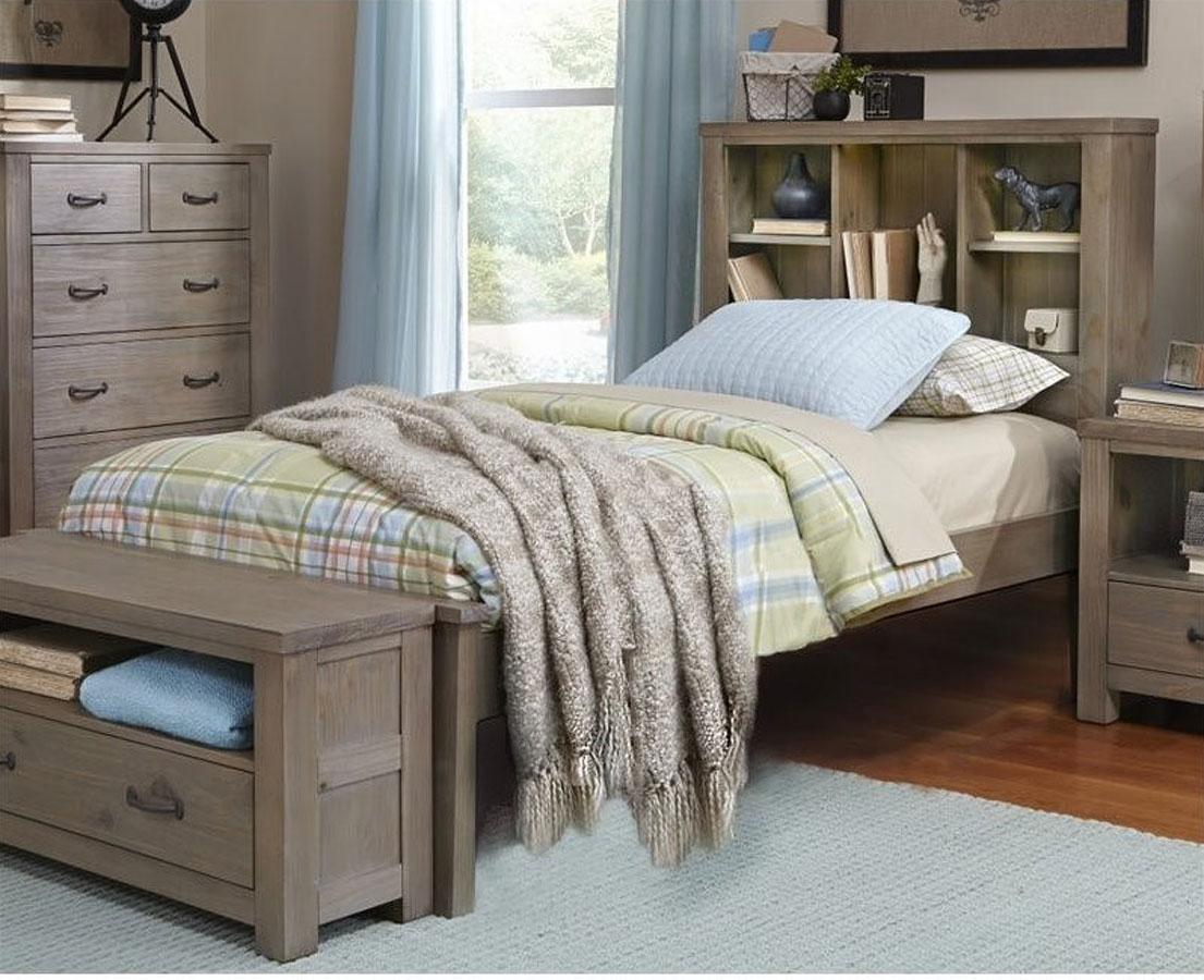 Highlands Youth Bookcase Bedroom Set (Driftwood) Hillsdale