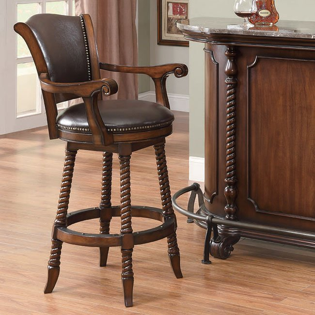 Traditional 29 inch Barstool in Cherry