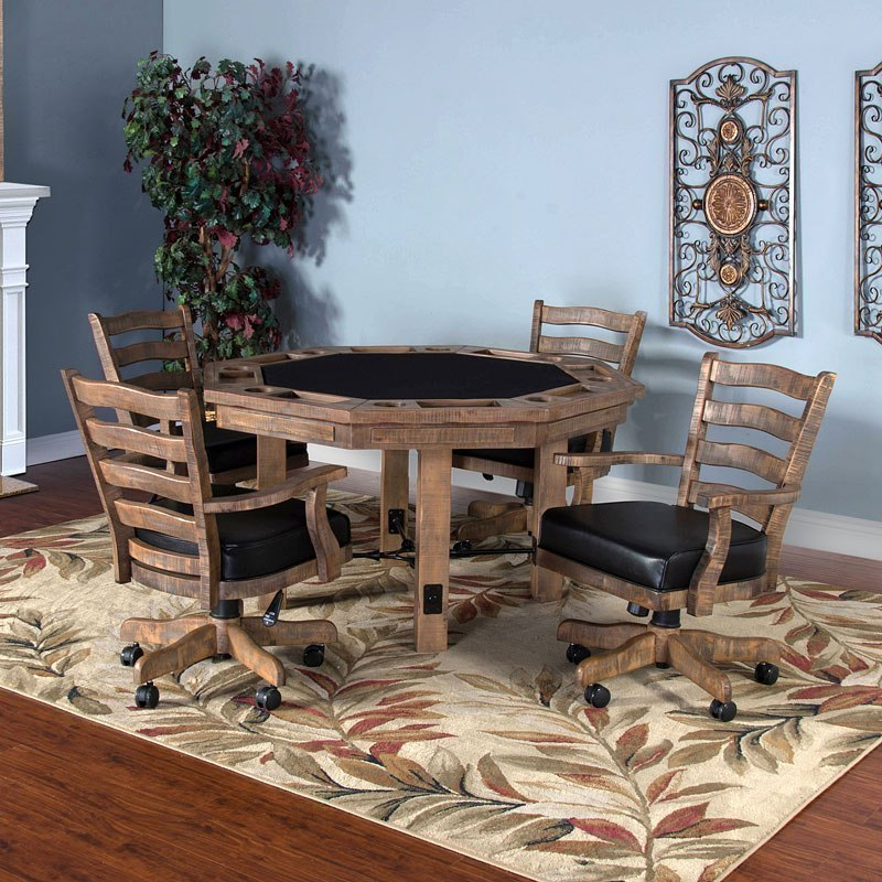 Puebla Game and Dining Table Set