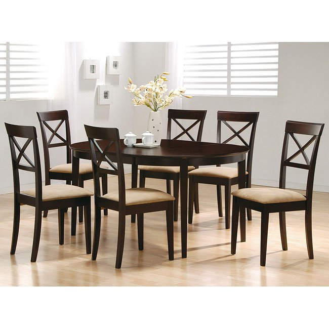 Mix Match Kitchen Chairs: Mix And Match Oval Dining Room Set With Cross Back Chairs