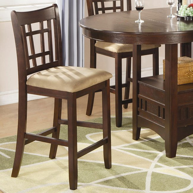 Lavon 24 Inch Barstool Cherry Set Of 2 Coaster Furniture