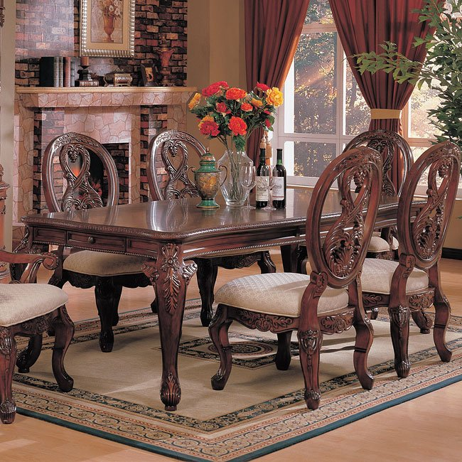 Nottingham Rectangular Dining Table By Coaster Furniture