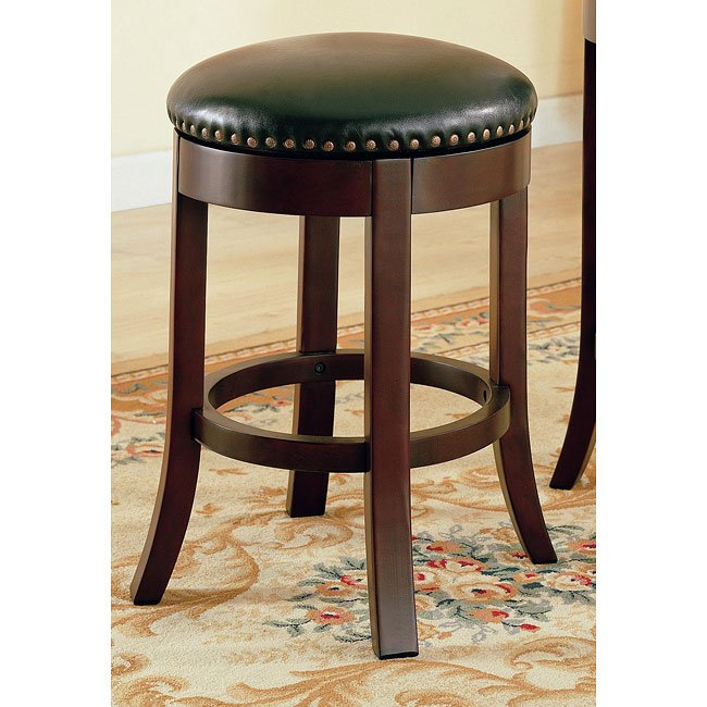 Walnut Backless 24 Inch Barstool Set Of 2 Coaster Furniture