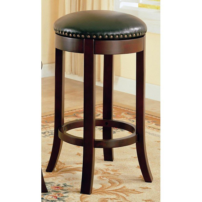 Walnut Backless 29 inch Barstool (Set of 2)