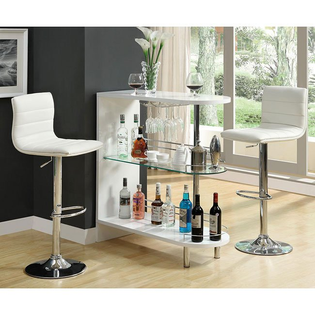 10106 Series Home Bar Set (White) Coaster Furniture