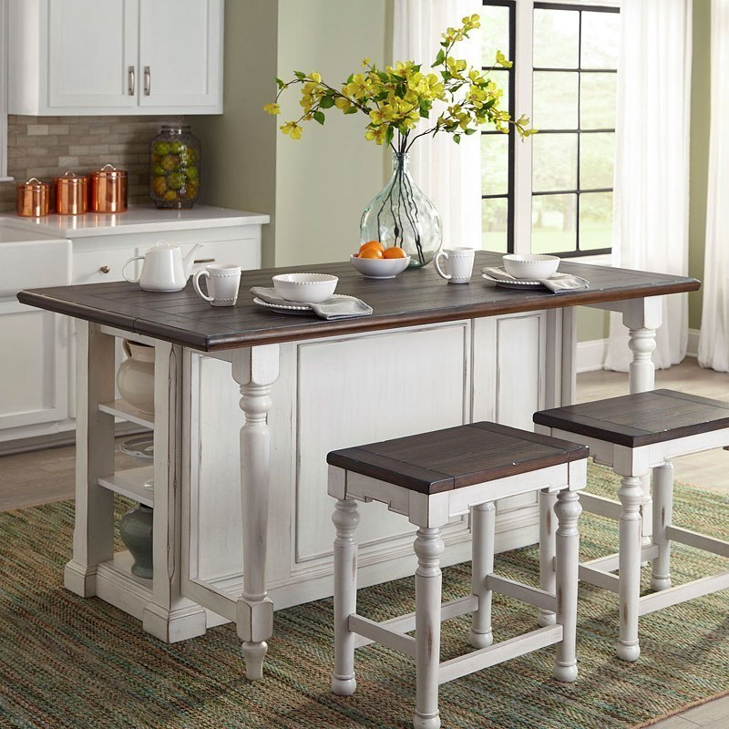 French Country Kitchen Island: Bourbon County Kitchen Island (French Country) Sunny
