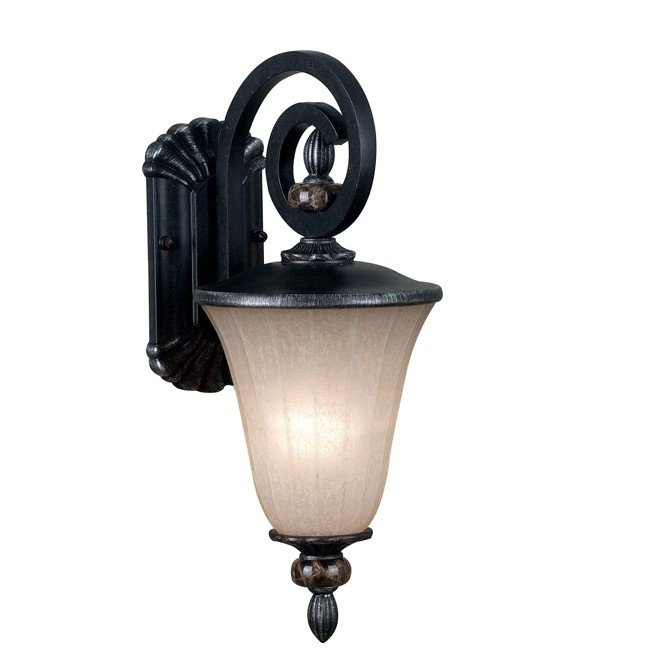 Leafston 1 Light Small Lantern (Mercury Bronze)