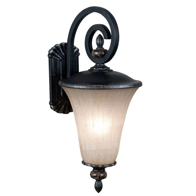 Leafston 1 Light Medium Lantern (Mercury Bronze)