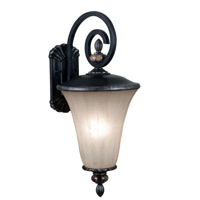 Leafston 1 Light Large Lantern (Mercury Bronze)