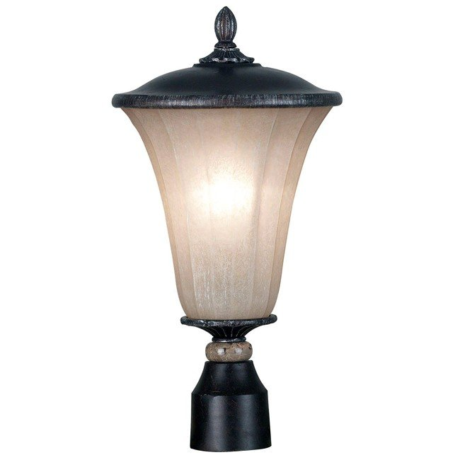 Leafston Medium Post Lantern (Mercury Bronze)
