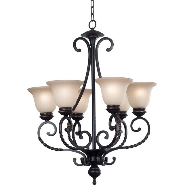 Oliver 6 Light Chandelier (Oil Rubbed Bronze)