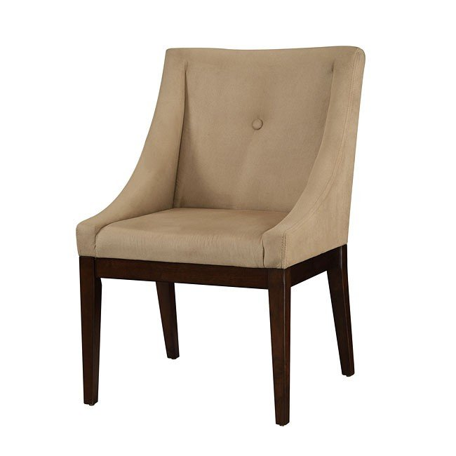 Taupe Microvelvet Accent Chair