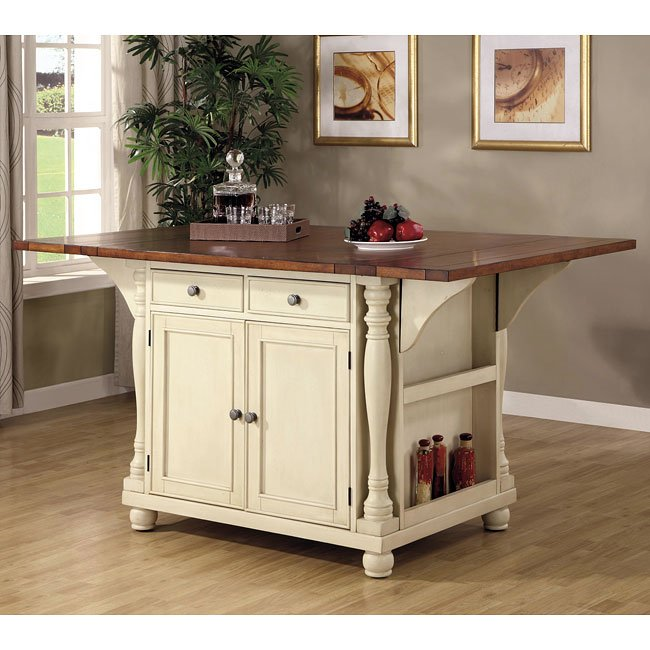 Buttermilk And Cherry Kitchen Island