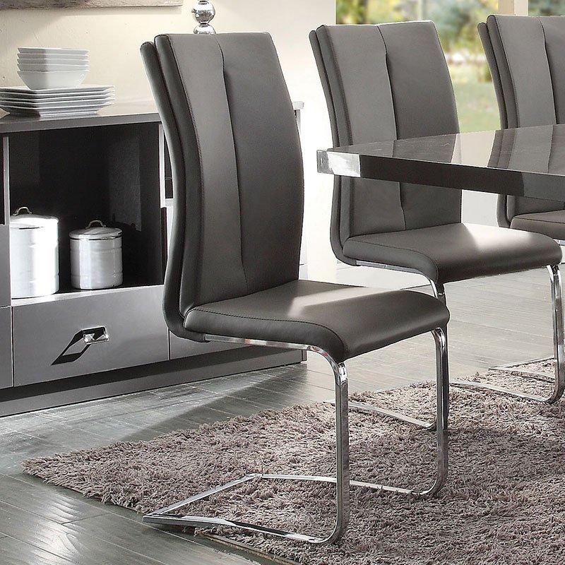 Lowry Breuer Side Chair (Grey) (Set Of 2) Coaster Furniture | Furniture Cart