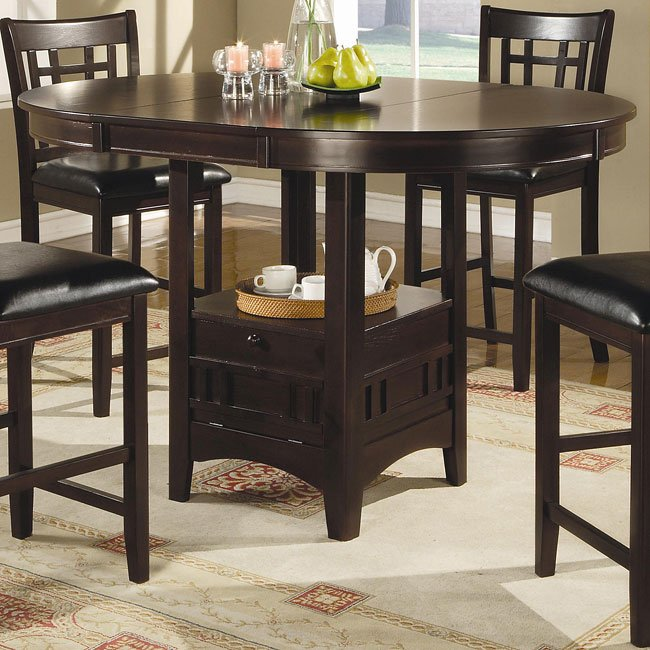 Lavon Counter Height Dining Room Set (Cappuccino) Coaster